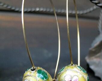 Cloissone-style modern earrings