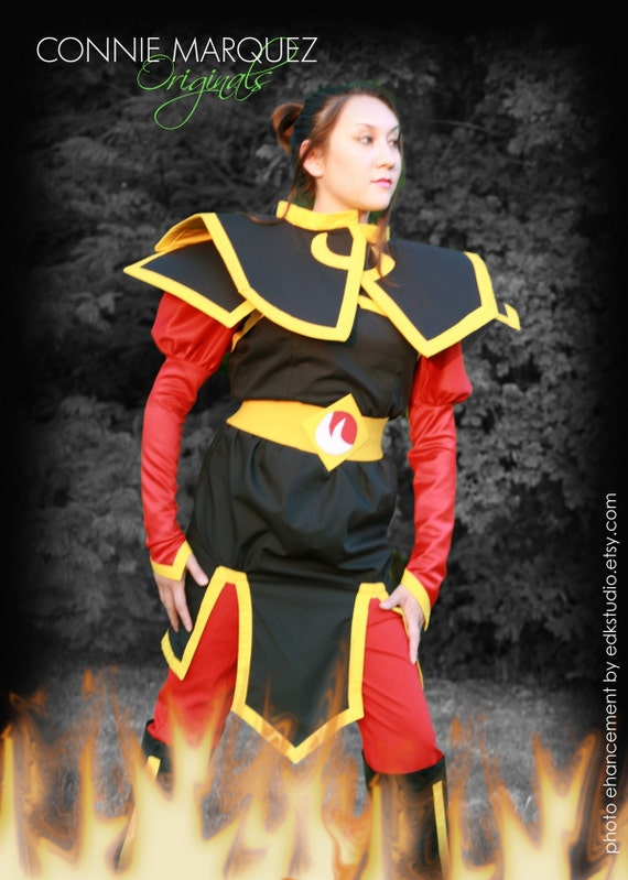 Cos-play Anime Last Airbender Princess Azula Costume 7 Piece