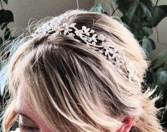 Fairie Queen romantic bridal rhinestone headband wedding