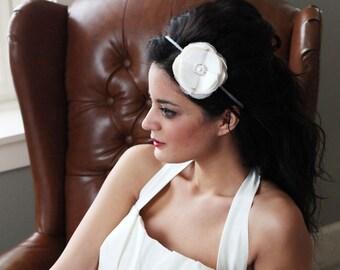 Dupioni silk Flower headband