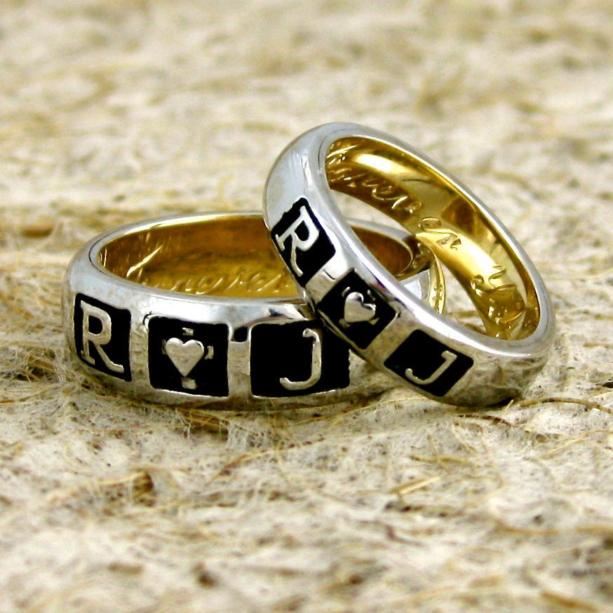romeo and juliet wedding ring set in two tone 14k white and With romeo and juliet wedding ring set