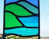 Teeny Tiny Beach Scene, Stained Glass Leaded Suncatchers