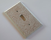 Silver Paisley Switch Plate