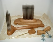 4 PITCH ENGLISH STYLE WOOL COMB AND HACKLE SET Hybrid Comb with Accessories