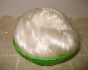 Mulberry Silk-- White 1/2 oz add in for batts and art roving