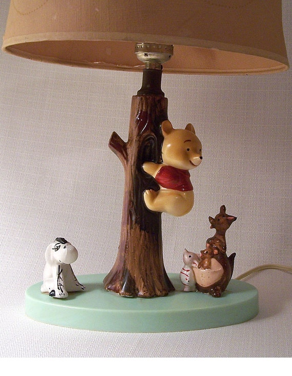 Vintage Disney Winnie The Pooh Child S Ceramic Lamp By The