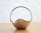selandia demark stainless steel dish with wire wrapped handle