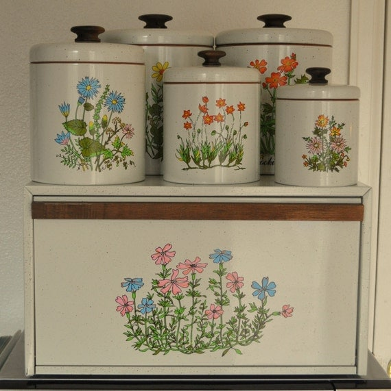 Vintage Ransburg Kitchen Canister And Bread Box Set