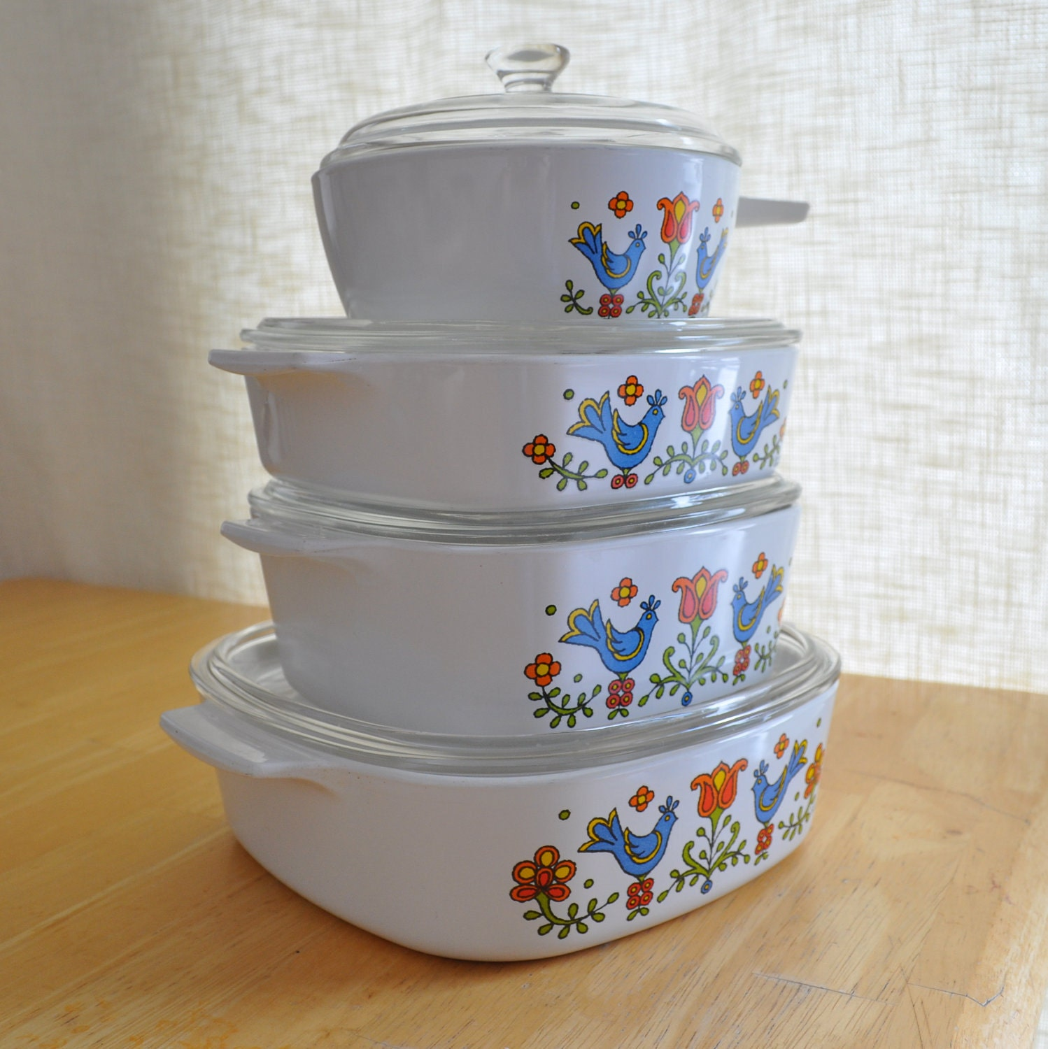 Corning Ware Country Festival Set With Lids