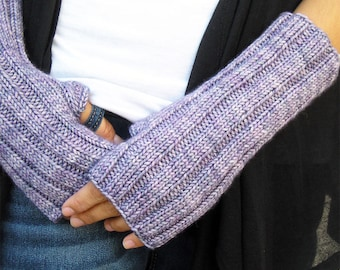 Outlander Claire Mitts, Hand Knit Fingerless Gloves, Women's Wrist Warmers, Superwash Wool, Made to Order, 8 Colors