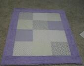 Soft Lavender Baby Blanket