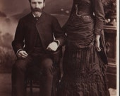 Cabinet card- Husband and wife from Montreal QC Canada