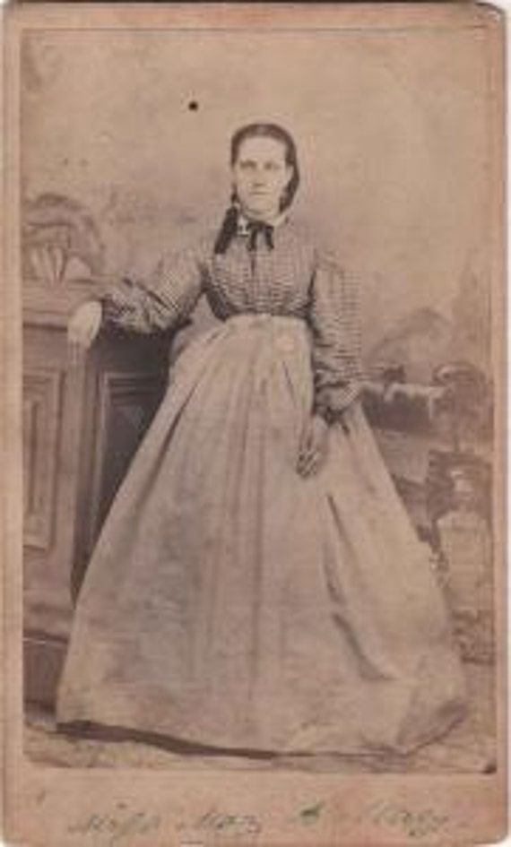 CDV Photograph, A Lady from the Civil War Era, Wm Gibson, Mishawaka, Ind