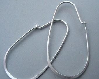 20 pcs (10 pairs) 30mm 21 gauge Sterling Silver hoop earwires (ESS703)