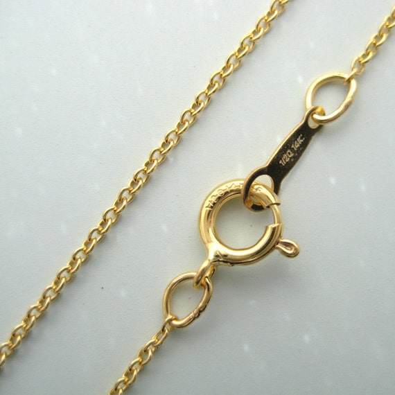 2 pcs 20 inch 14k gold filled cable chain (NGF102)