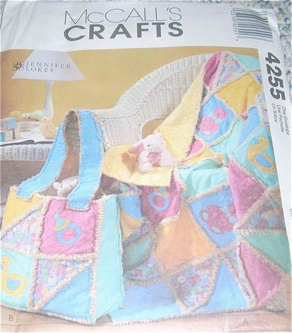 Baby Quilt Patterns Mccalls : McCall s Crafts Baby Quilt Frayed Edges Pattern by WestbrookFarm