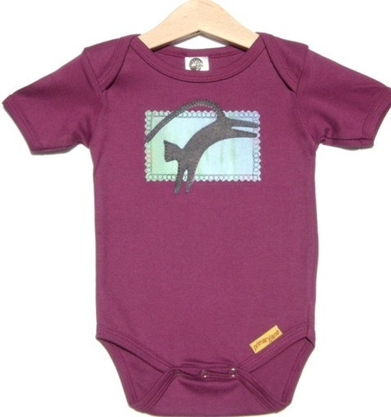 Leaping Cat Organic Cotton Onesie