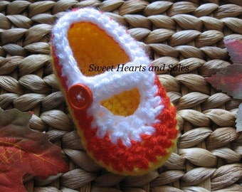 Dandy Candy Corn Baby Mary Janes 0-3 Months