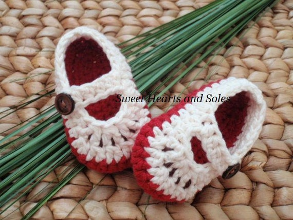 Apples of My Eye Cotton Baby Mary Janes 0-3 Months - Shipping INCLUDED