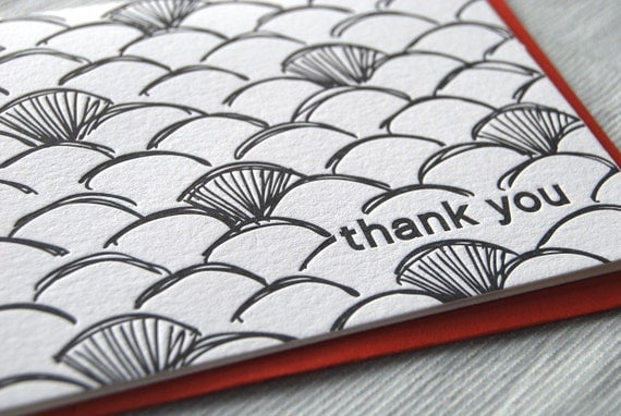 DISCONTINUED: Sketch Pattern Thank You Card Set