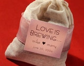 Love is Brewing Tea Bag wedding - shower - party favor