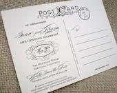 Vintage Photograph Postcard Save the Date