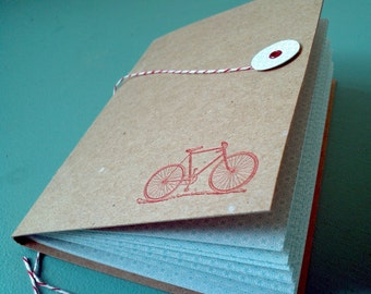Bakers Twine Letterpress Bicycle Journal Notebook