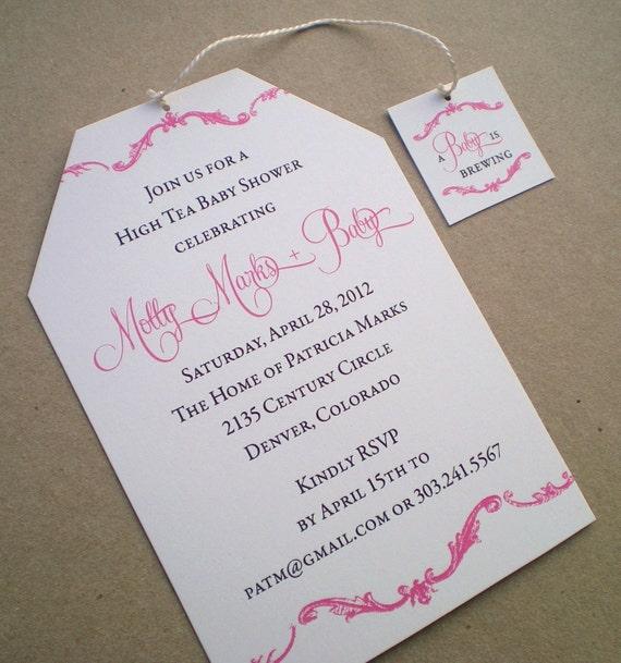 High Tea Baby Shower Invitation Girl