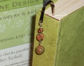 Large Green Beaded Bookmark