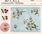 Vintage 1940's McCall's Kaumagraph Transfer Pattern 1009 UNCUT