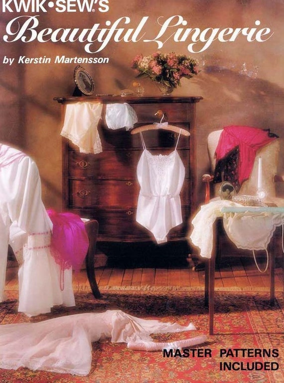 Kwik Sews Beautiful Lingerie by Martensson  Patterns and Book