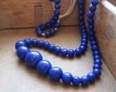 Vintage Royal Blue Beads