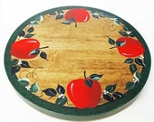 RED APPLE handpainted lazy susan