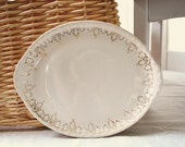 Vintage Creamy White Serving Plate