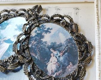 Pair of Vintage Victorian Framed Art