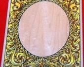 Antique Oval Frame Rubber Stamp