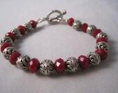 Ruby Red Quartz Bracelet