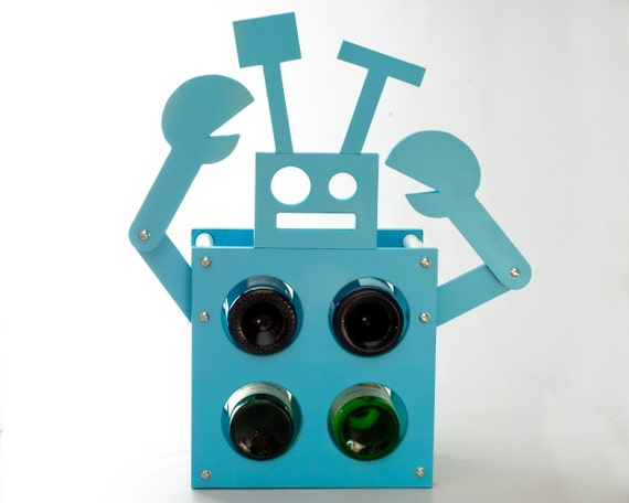 robot wine rack.