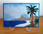 Beach - Fabric Postcard