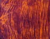 Hand Dyed Fabric - Orange/Grape stripe