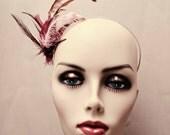 Feather headband - Fascinator - Shades of Purple