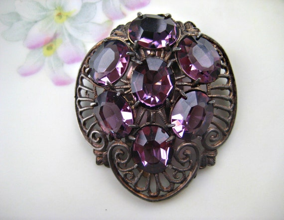 Vintage Dress Clip Purple CIJ Sale