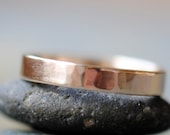 14k Gold Ring, Hammered 14k Gold Band, Unisex Ring, Man's Ring