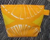 Orange/yellow Appelsiini Sandwich / Lunch /Snack /Bagel / make up / Wet / Baby /Bag/ Pouch/Pack