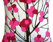 Marimekko Pink Lumimarja cotton cushion  pillow case, 18 inches, 45 cm FInland