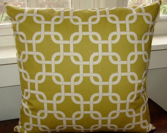"SALE Mustard yellow Cream, Pillow, size 18"", 45cm stylish, classy, US ship only"