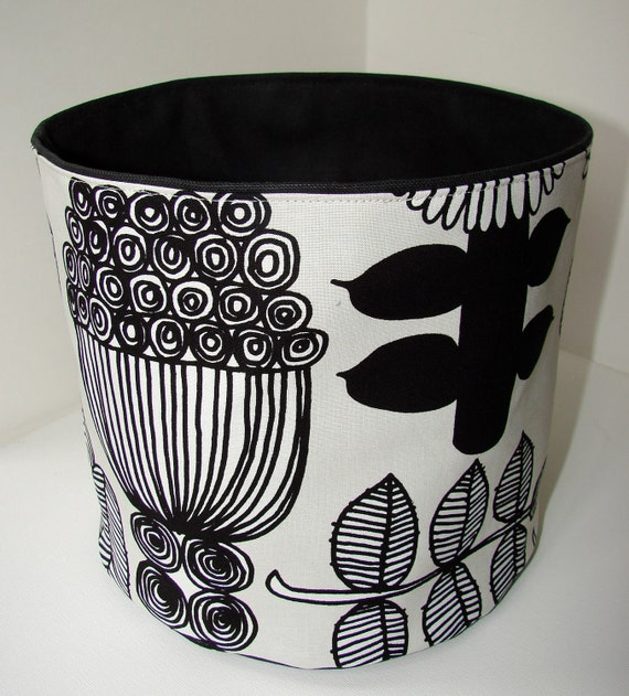 Puutarhurin Parhaat BIG Fabric Basket from Finland, great gift idea, REVERSIBLE one basket