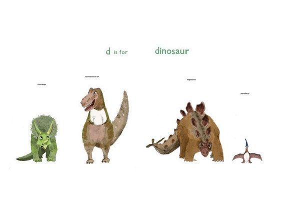 D is for Dinosaur Print