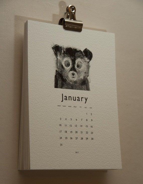 2011 calendar mono prints