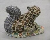Mosaic Squirrel Garden Figure